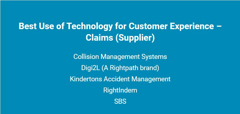 Shortlist of the Best use of Technology for Customer experience award