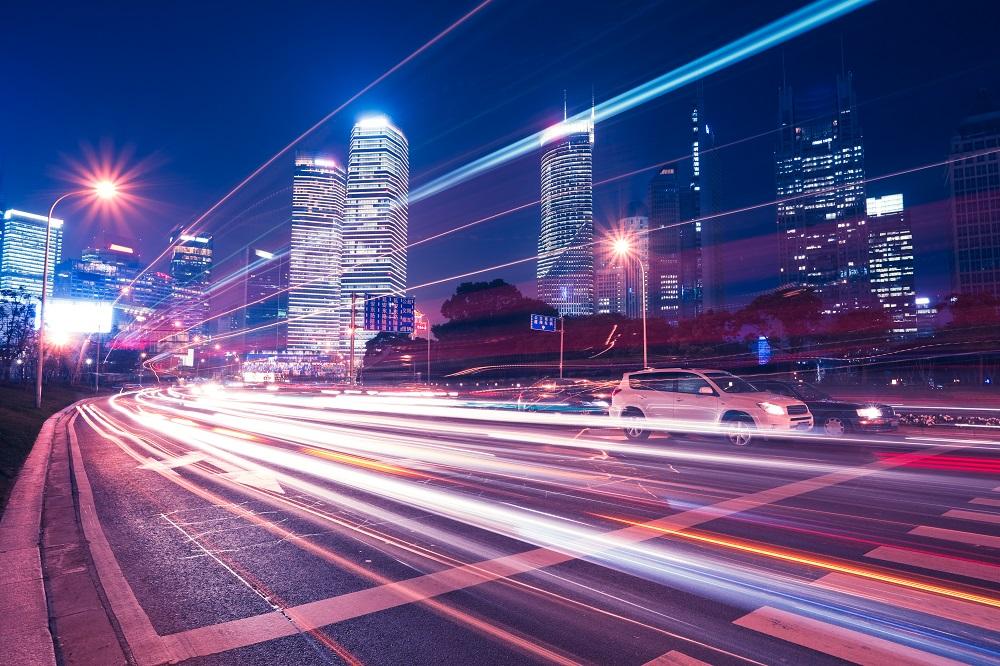 November driving - city traffic at night