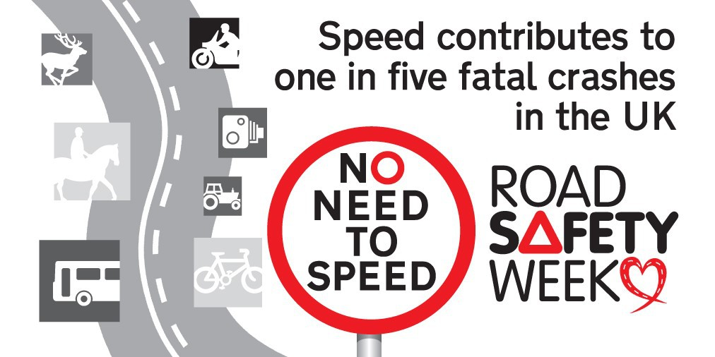 No need to speed image for Road Safety Week 2020